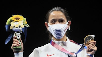 Here's why the U.S.'s podium masks are so big