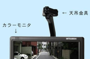 Mitsubishi CM-7200 screen to replace rear-views in trucks
