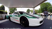 Une Ferrari 458 de la mafia devient... une voiture de police !