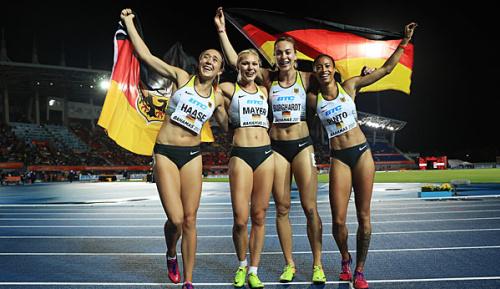 Leichtathletik: Deutsche Sprinterinnen mit Überraschungssieg bei World Relays