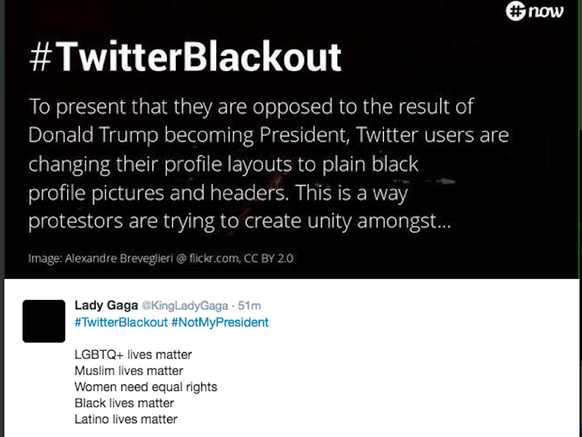 #TwitterBlackout is how people are protesting the election ...