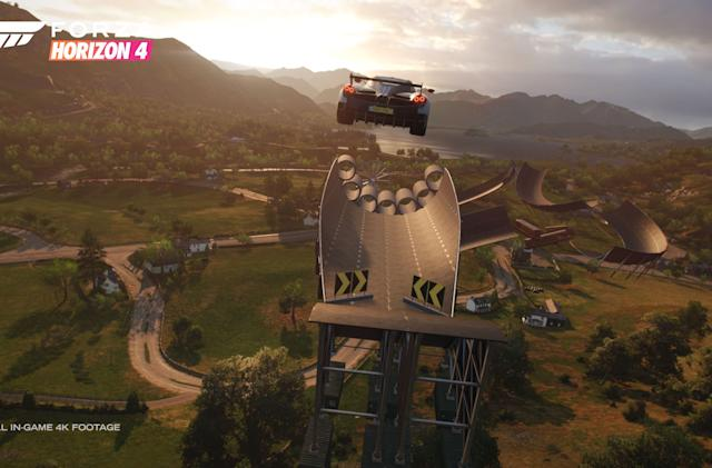 Forza Horizon 4's Super7 mode lets you play and design stunt challenges