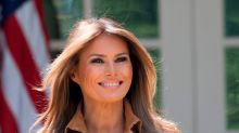 Melania Trump recycles $1,280 striped shirtdress for Tim Cook dinner