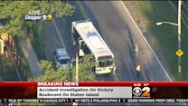Driver Killed After Striking City Bus On Staten Island