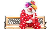 Clowns aren't wearing make-up anymore in case it scares children
