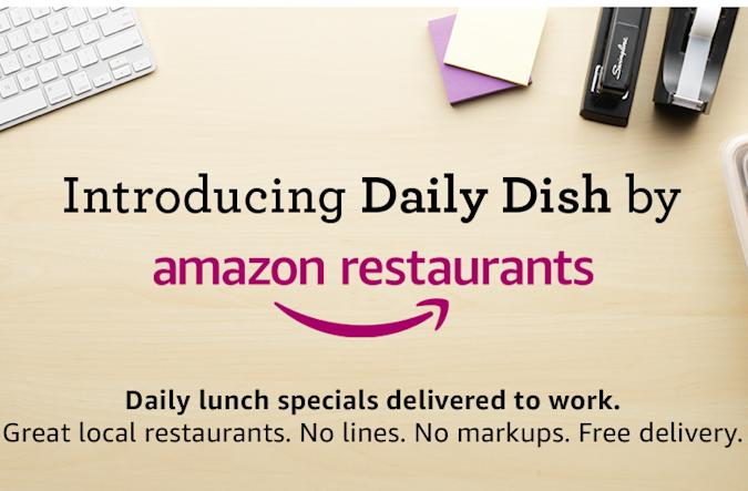 You can soon call on Amazon to bring you lunch in a hurry
