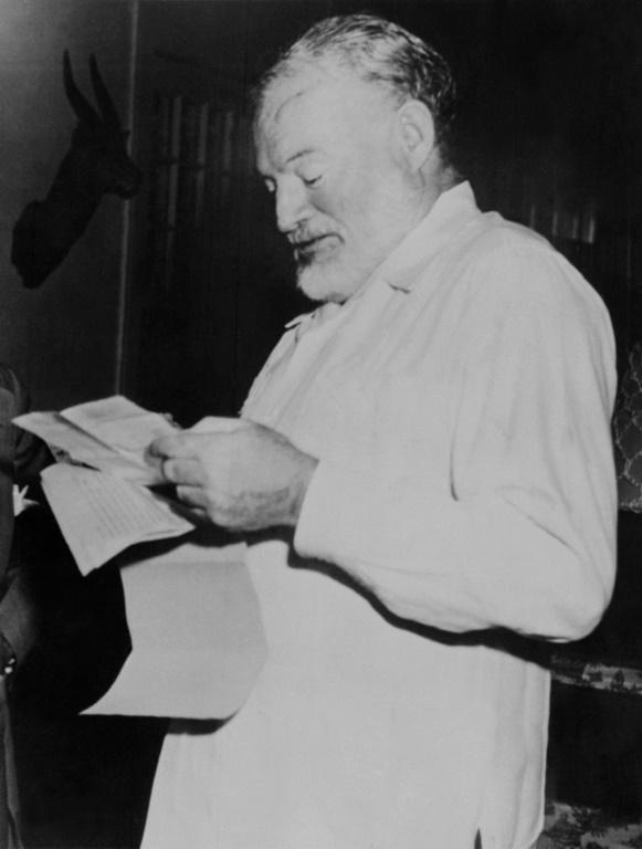 Ernest Hemingway is said to have run up a tab for 51 dry martinis (AFP Photo/)