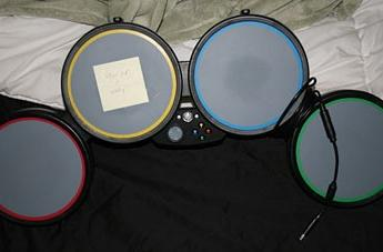 Complicated fix for overworked Rock Band drums