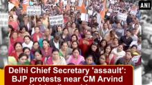 Delhi Chief Secretary 'assault': BJP protests near CM Arvind Kejriwal's residence
