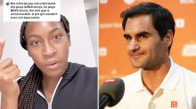 Coco Gauff drags Roger Federer into nasty 'sexism' controversy