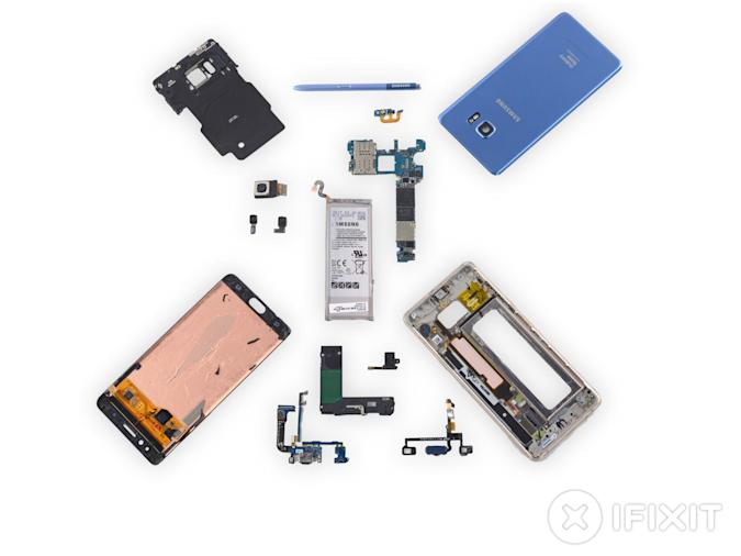 iFixit despieza el resucitado Galaxy Note 7 Fan Edition