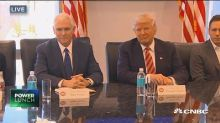 Trump meets with tech titans as Bezos lauds 'productive' session