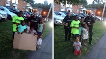 Cops called to shut down kid's lemonade stand buy drinks instead