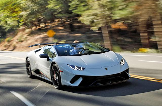 Lamborghini's high-performance Spyder turns physics into fun