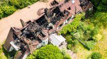 Aerial images show fire devastation at JLS star Oritse Williams' home