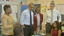 Obama Stresses Link Between Education, Economy