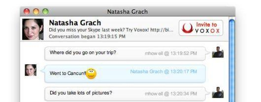 VoxOx combines all your contacts into one Mac client