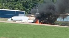 Motorsport legend and young family in fiery plane crash