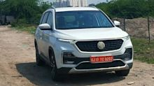 Ahead of launch, MG Hector (facelift) spotted testing in India
