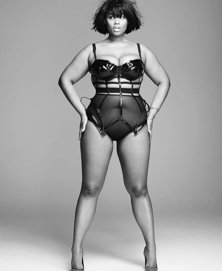 Corseted cutie: Precious Lee shows off her enviable curves. (Photo courtesy of Precious Lee)