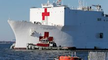 Navy Hospital Ship Rushing To New York, Repairs Unfinished, For COVID-19 Crisis