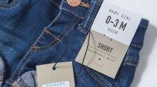 Upset over Primark selling denim hot pants for babies