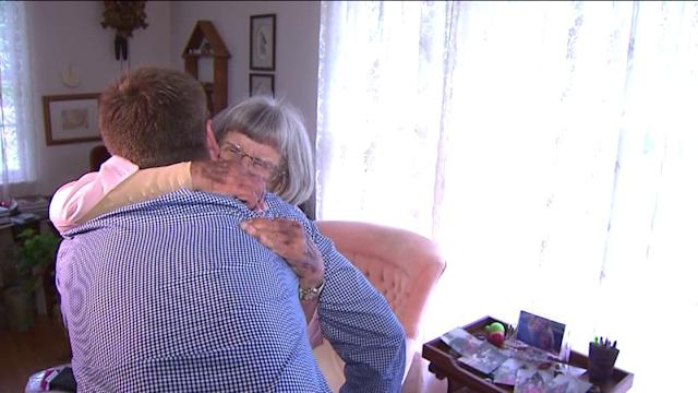 84-year-old woman reunites with `her miracle`