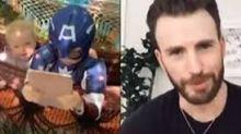 Menino ganha mensagem de Chris Evans e escudo do Capitão América após salvar irmã