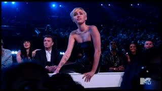 Miley Cyrus' Homeless Friend Accepts Her Video of the Year VMA For