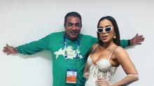Pai de Anitta defende a cantora após comentário ofensivo feito por fã de Luana Piovani