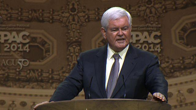 "Newt Gingrich ""defends"" Obama's Florida vacation"