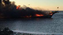 Fire engulfs casino shuttle boat off Florida coast, 15 injured