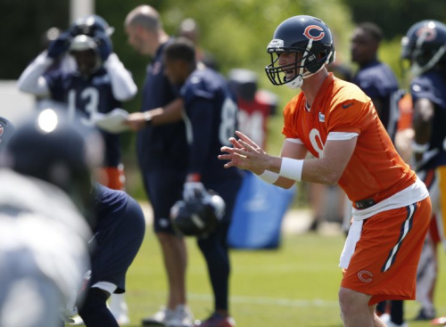 Mike Glennon enters training camp as the Bears starting quarterback. (AP)