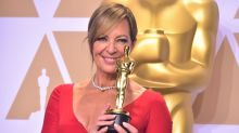 Allison Janney takes her Oscar to work, lets Anna Faris hold it