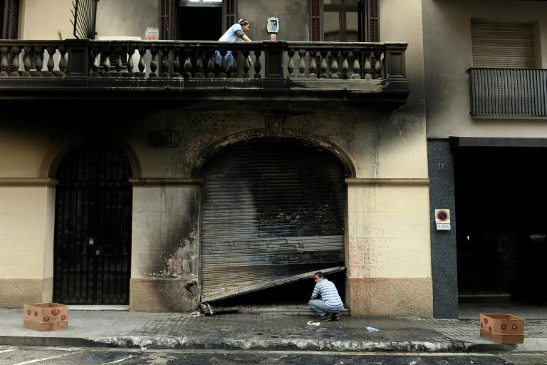 Barcelona suffered much vandalism during the night (AFP Photo/Josep LAGO)