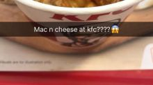 KFC Singapore is now serving Mac 'N Cheese with popcorn chicken
