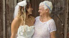 A los 92 años, una abuela se animó a ser dama de honor y llevó alegría a la boda de su nieta