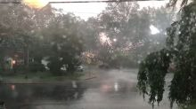 Power Lines Spark as Storms Lash Arlington