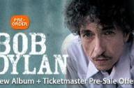 Columbia Records & Apple offer exclusive pre-order of Bob Dylan's new album, ticket promo