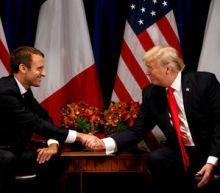 Macron taps into U.S. Marines lore with tree sapling gift to Trump