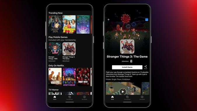 Stranger Things 3: The Game in Netflix's Android app