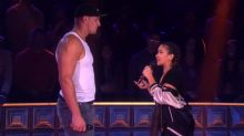 Gina Rodriguez shreds Rob Gronkowski in an epic rap battle on 'Drop the Mic'