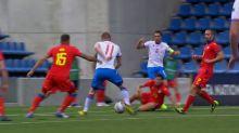 Foot - Ligue des nations : Le but d'Andorre - îles Féroé (0-1)