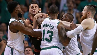 Players come to blows as Celtics take series lead