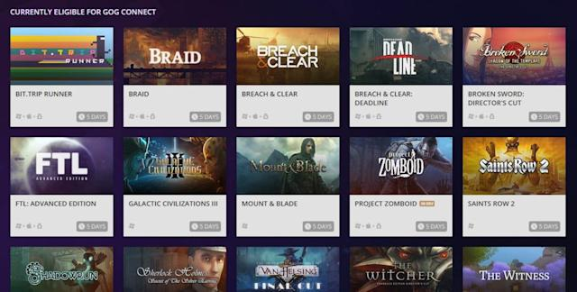 GOG will add select Steam games to your library for free