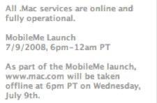 MobileMe launch date set: July 9th at 6 p.m. PT