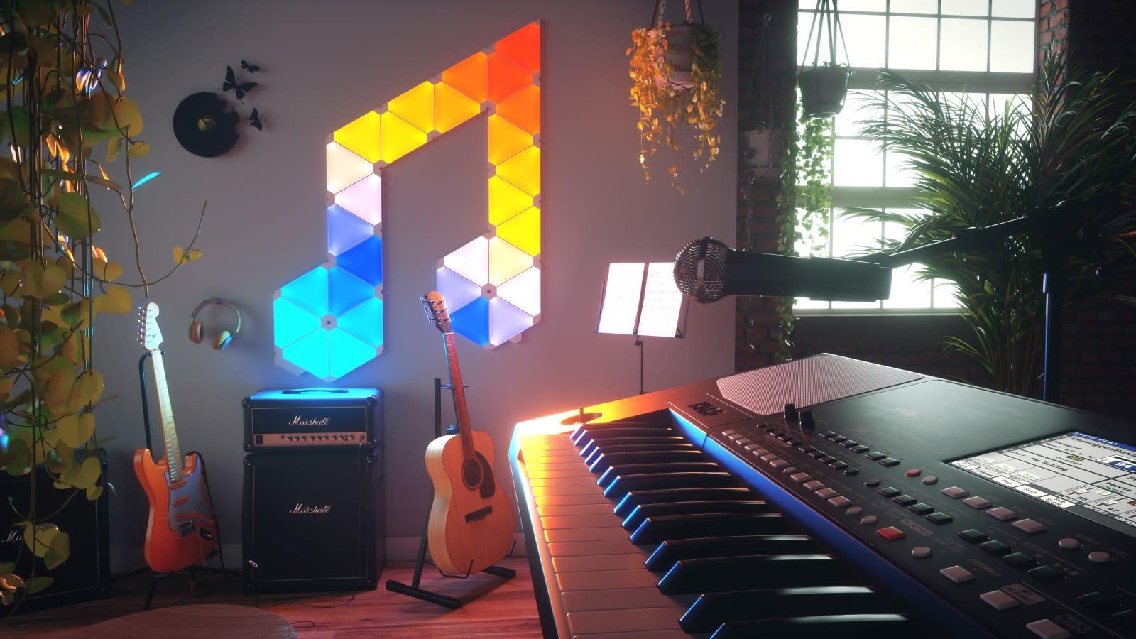 Nanoleaf delivers music syncing for its Aurora smart lights   Engadget