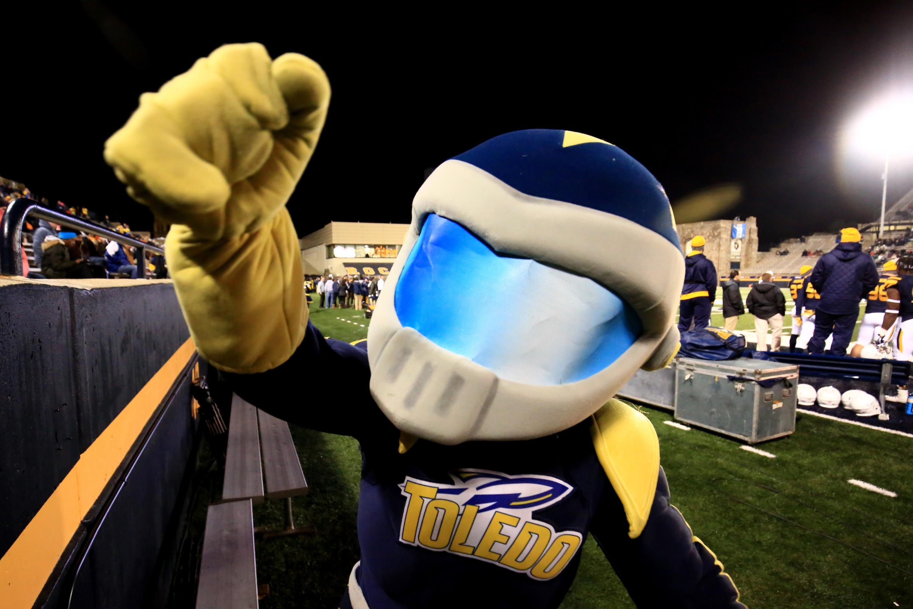 Rocky the Rocket will remain Toledo's mascot after a scare on Tuesday. (Getty Images)