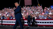 Trump says little about second-term agenda as he mocks Obama's name during grievance-filled North Carolina rally