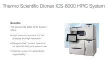 A Look at TMO's New High Pressure Ion Chromatography System